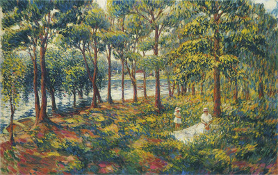 madame lebasque and daughter by the marne