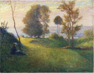 madame lebasque in a breton landscape