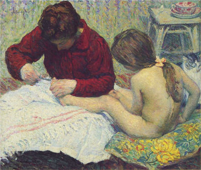 madame lebasque with daughter