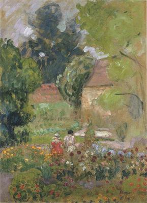 Mathe and Nono in the garden
