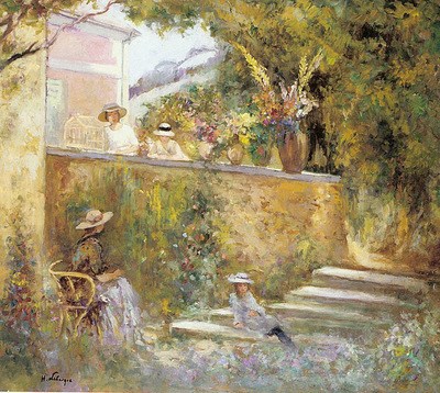 Nono and Madame Lebasque in the Garden