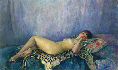 Nude on a Leopard Skin