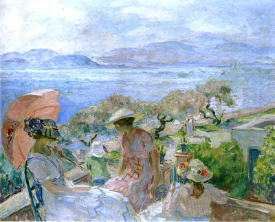 On the Terrace by the Sea at St Maxime