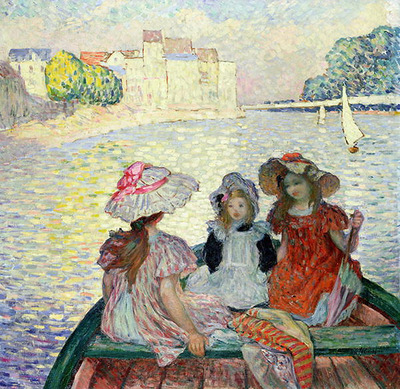 Three Girls in a Boat