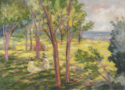 Two Girls in a Landscape