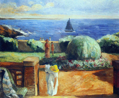 women on the terrace at prefailles