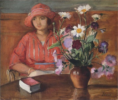 Young Girl with Flowers