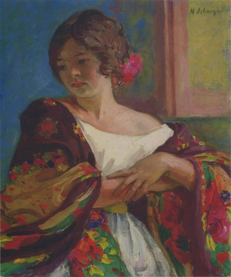 Young Woman in a Shawl