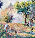 girls in a landscape near st  tropez 1906