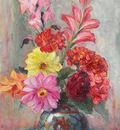 Gladioli and Dahlias