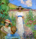 les andelys three girls in a garden