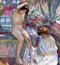 marthe and madame lebasque at the fountain