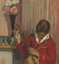Pierre Labasque Playing a Guitar