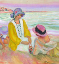 Three Young Girls at the Beach