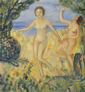 Two Bathers by the Beach
