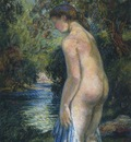 young bather by the river
