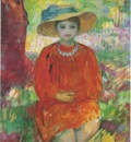 Young Girl in Orange Dress