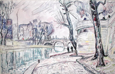 Paris  River Scene