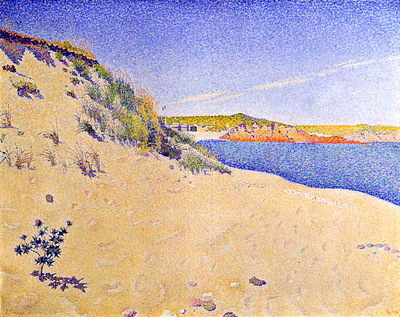 the beach at saint briac