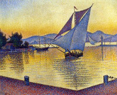 the port at sunset saint tropez