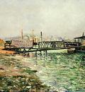the seine at quai st  bernard