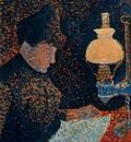 Woman by Lamplight