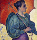 woman with a parasol berthe signac