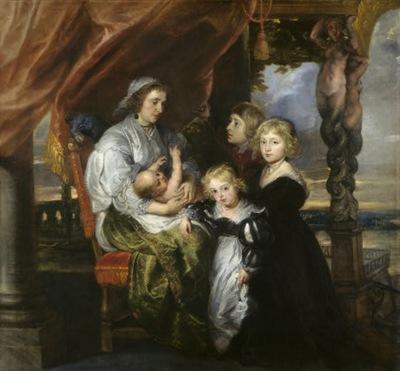 deborah kip wife of sir balthasar gerbier and her children  1629