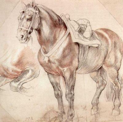 etude of horse 1619