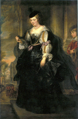 helena fourment with a carriage
