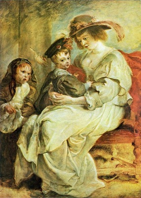 helene fourment with her children 1636