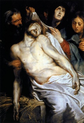 lamentation christ on the straw 1617