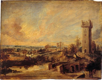 landscape with tower 1636