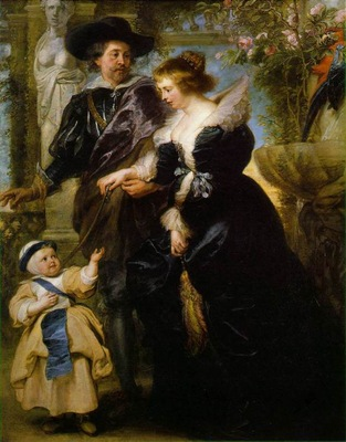 rubens his wife helena fourment and their son peter paul