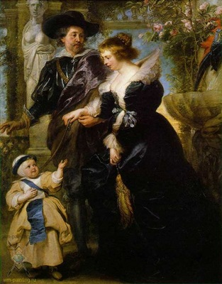 rubens his wife and son