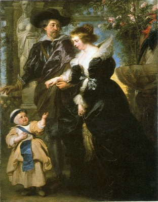 rubens with his family in garden