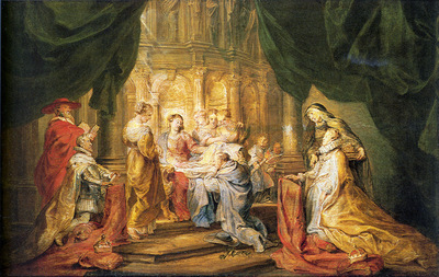 St Ildefonso Receiving a Priest Cloak