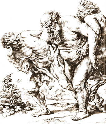 strong or bacchus and satire