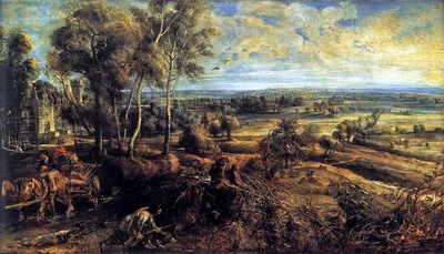 summer landscape with het steen views