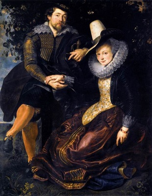 The Artist and His First Wife Isabella Brant in the Honeysuckle Bower
