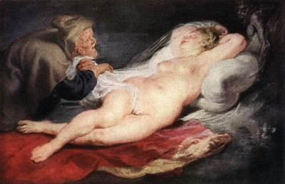 the hermit and the sleeping angelica 1626
