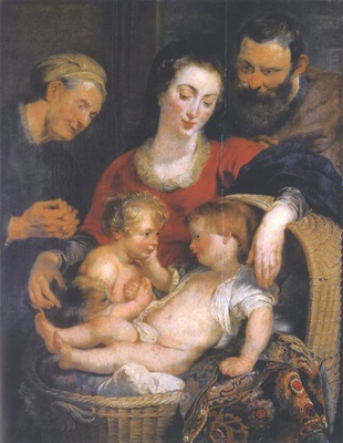 the holy family with st elizabeth 1614