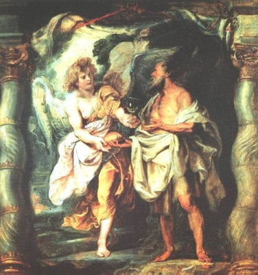 the prophet elijah receiving bread and water from an angel 1625