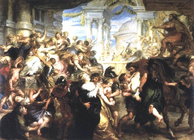 the rape of the sabine women 1635