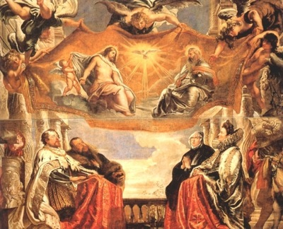 the trinity adored by the duke of mantua and his family  1604