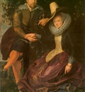 artist and his first wife isabella brant in the honeysuckle bower  1609