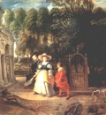 rubens in his garden with helena fourment