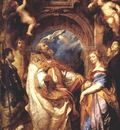 Saint Gregory With Saints Domitilla Maurus And Papianus