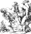 silenus or bacchus and satyrs
