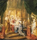 st ildefonso receiving a priest cloak 1630